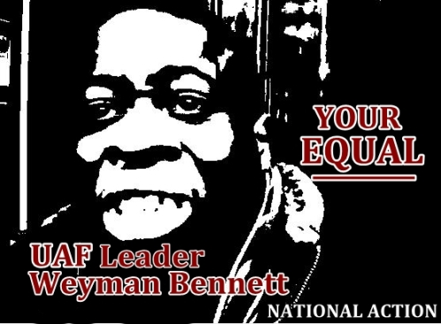 Weyman Bennett - Face of 'equality'.